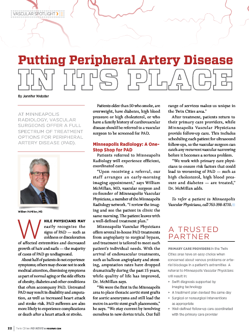 putting peripheral artery disease in its place